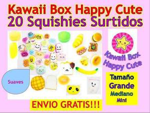 Squishy Surtidos 20 Piezas - Kawaii Box Happy Cute + Envio