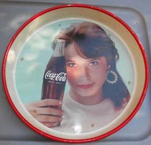 Vieja Charola De Refresco Coca Cola 1962 Lamina