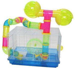 Yml Dwarf Hamster Jaula Los Ratones Con Tubos De Color Y Acc