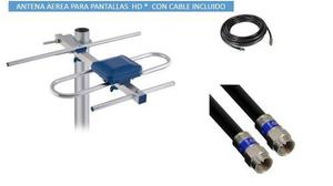 2 Pz- Antena Digital Para Tv Pantallas D Led Lcd Ant-hd007