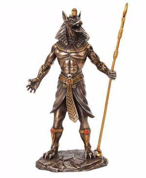 Anubis Dios Perro Guerrero En Acabado Bronce 26cm