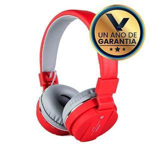 Audífonos Diadema Micrófono Bluetooth Rojo:: Virtual Zone