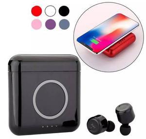 Audifonos Inteligentes X4t Bluetooth Power Bank Qi 5200mah