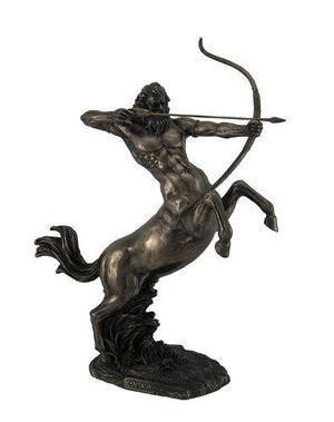 Escultura De Centauro Acabado En Bronce De 36cm