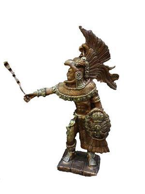 Escultura Figura Caballero Aguila Apariencia Bronce 807