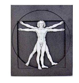 Escultura Renacentista Vitruvio De Leonardo Da Vinci