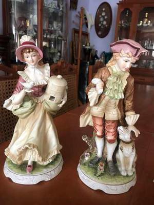 Figuras De Porcelana Tipo Luis Xv Napcoware