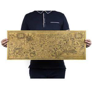 Harry Potter Mapa Merodeador 72cm Envio Gratis Póster