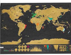 Mapa De Rascar Scratch Map Paises Grande Sin Tubo