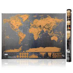 Mapa Mundo + Regalo Mapamundi Rascar Scratch Gift - Viajero