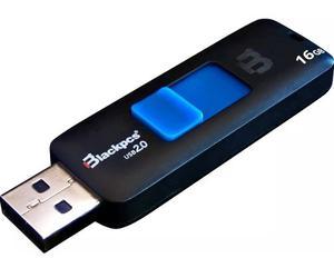 Memoria Usb 16gb Blackpcs Mub-16 Flash Drive Azul