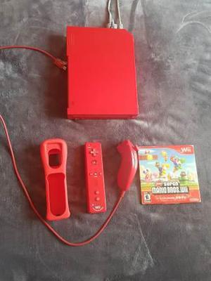 Nintendo Wii Classic Rojo Compatible Game Cube Con Mario
