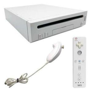 Nintendo Wii Con Dos Controles Y Los Cables, Perfecto Estado