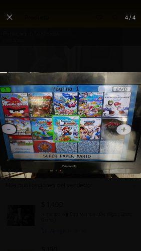 Nintendo Wii Negro Con Memoria De 16 Gb (Envio Gratis)