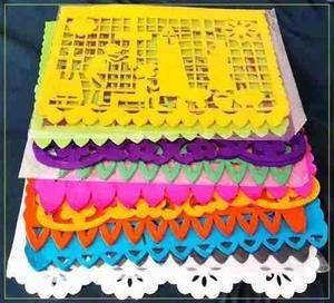 Papel Picado Día De Muertos 1/2 Pliego Colores