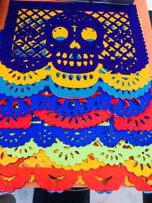 Papel Picado Día De Muertos  Carpetas 1/2 Pliego