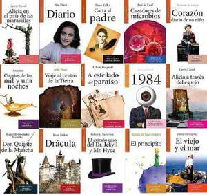Paquete 40 Libros Dia Del Niño Ana Frank Mago Oz Principito