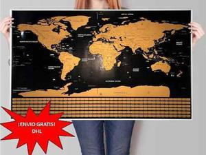 Promo Mapa De Rascar Deluxe Scratch Map Flags Regalo Viajero