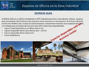 RENTA DE OFICINAS EN WTC INDUSTRIAL EDIFICIO ALFA (ZONA