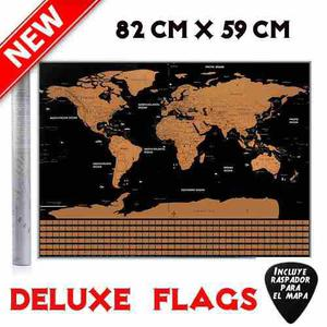 Scratch Map Deluxe Banderas Flags Mapa De Rascar Mapamundi
