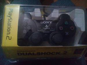Set De Dos Controles Playstation 2 En Caja Colores A Elegir