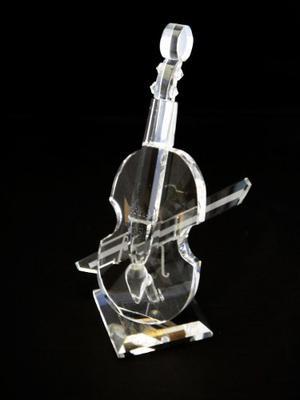 Violín Instrumento Musical Figura Vidrio Adorno Decoración