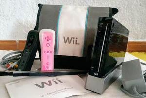 Wii Rvl 001 Negro Con Mochila