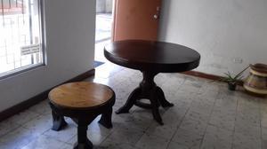 mesa colonial y mesa esquinera