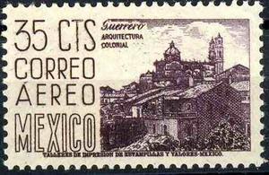 1638 Arqui 4° B E Scott# C220 C Guerrero 35c Aéreo Mint