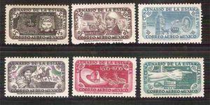1956 México Centenario De La Estampilla Postal 6 Sell