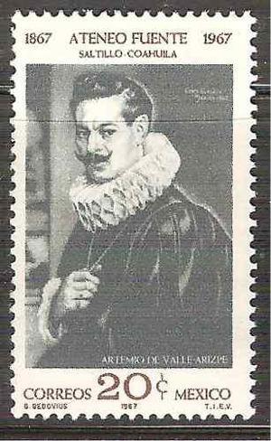 1967 Artemio De Valle Arizpe Escritor Diplomático Sc. 986