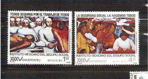 1978 Seguro Social Imss 35 Aniv Murales Rivera Siqueiros Mnh
