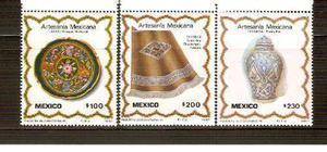 1987 Artesanía Mexicana Serie Mnh Sc 1480-1482