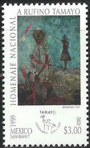1999 Homenaje Nacional A Rufino Tamayo Pintor Sello Mnh