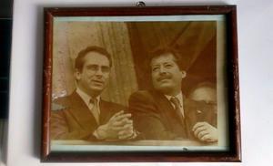 Fotografia de Luis Donaldo Colosio y Ernesto Zedillo 30 x 25