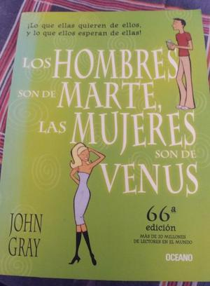 Libro,Los hombres son de marte y las mujeres de venus