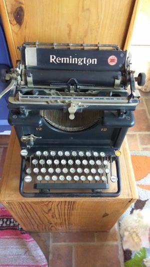 Maquina De Escribir Antigua Remington 12