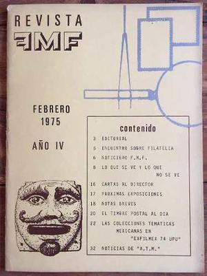 Mexico Revista Mex Filatelia Feb 1975 Estudios Etc. Fotos