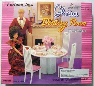 Mueble Para Casa De Muñeca Barbie Comedor Chico  Full