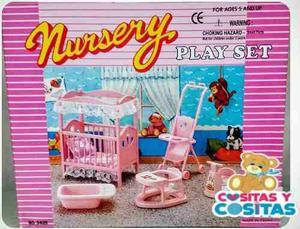 Mueble Para Casa De Muñeca Barbie Cuarto De Bebe  Full