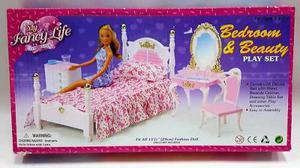 Mueble Para Casa De Muñeca Barbie Recamara Tocador