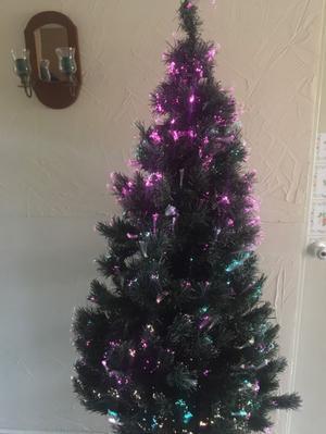 Árbol Navidad luz fibra optica multicolor $800 cel