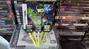 3 Juegos De Ben 10 De Nintendo Ds Mas 5 Stylus De Regalo.