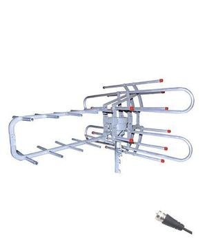 Antena Aérea Giratoria 360° Hdtv Con Booster Mitzu 3020