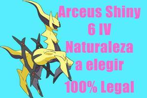 Arceus Shiny Pokemon De Evento 6iv Competitivo