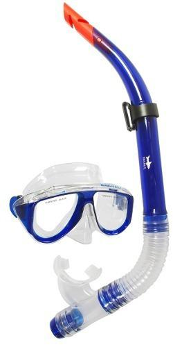 Mascara Y Snorkel Color Azul - Escualo Modelo Coral