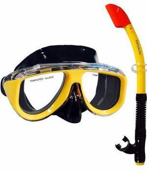 Mascara Y Snorkel Color Combinado - Escualo Modelo Coral