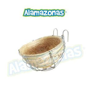 Nido Ixtle Forro Con Base Metalica Chico 8cmx12cm Alamazonas