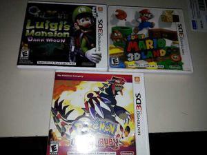 Pack De 3 Juegos Para Nintendo 3ds Original New 3ds Envío