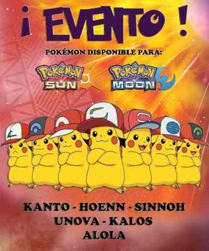 Pack Pikachu Gorra De Ash - Eventos - Pokémon Sol Luna 3ds